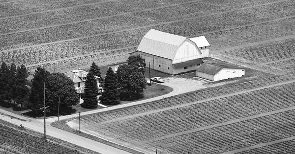 Vintage Aerial photo from 1976 in Putnam County, OH