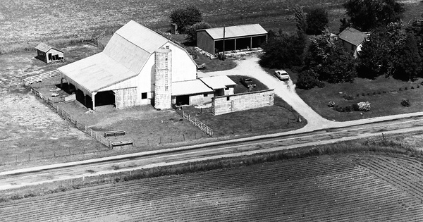 Vintage Aerial photo from 1974 in Clark County, OH
