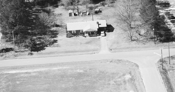Vintage Aerial photo from 1989 in Peach County, GA