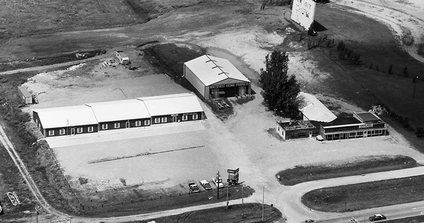 Vintage Aerial photo from 1983 in Dickinson County, IA