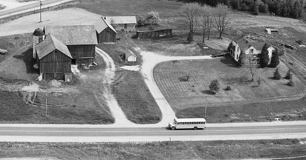 Vintage Aerial photo from 1980 in Grand Traverse County, MI