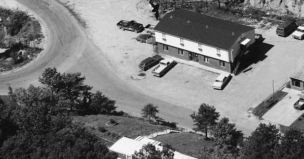 Vintage Aerial photo from 1984 in Martin County, KY