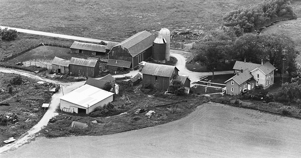 Vintage Aerial photo from 1964 in Dodge County, WI