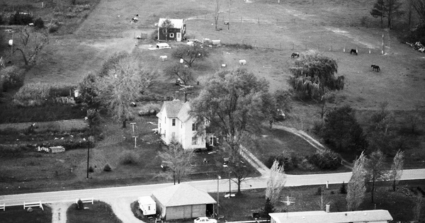 Vintage Aerial photo from 1984 in Ingham County, MI