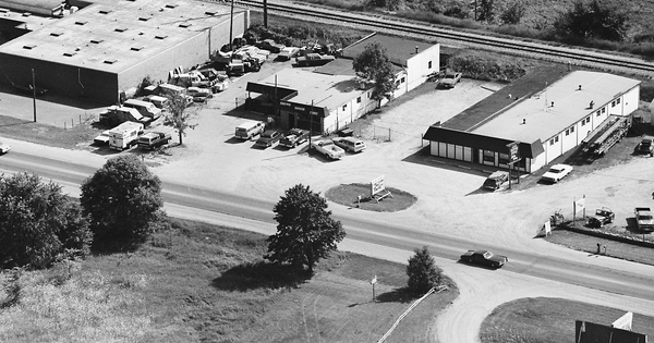 Vintage Aerial photo from 1982 in Lapeer County, MI
