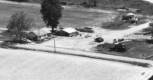 Vintage Aerial photo from 1984 in Jefferson County, AR