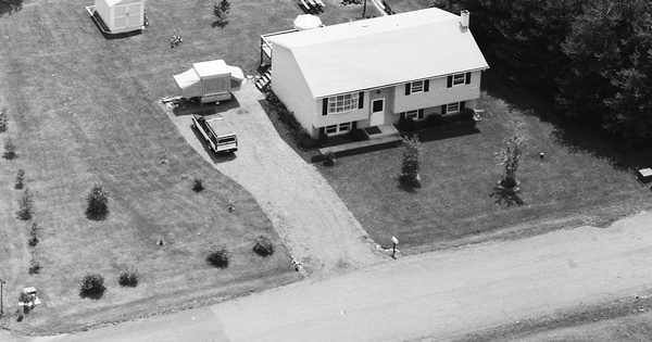 Vintage Aerial photo from 1984 in Chemung County, NY
