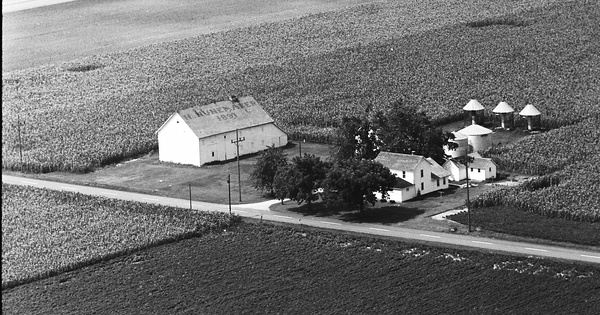 Vintage Aerial photo from 1967 in Van Wert County, OH