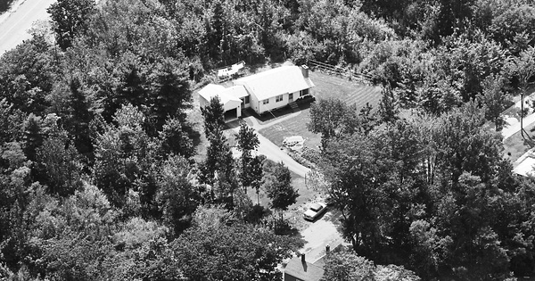 Vintage Aerial photo from 1963 in York County, ME