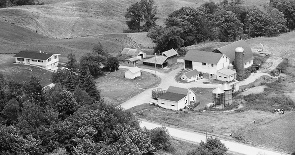 Vintage Aerial photo from 1980 in Juneau County, WI