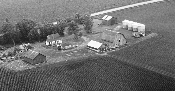 Vintage Aerial photo from 1975 in Grundy County, IA