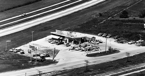 Vintage Aerial photo from 1965 in Livingston County, IL