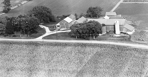 Vintage Aerial photo from 1964 in Dane County, WI