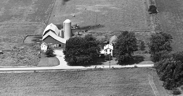 Vintage Aerial photo from 1964 in Walworth County, WI