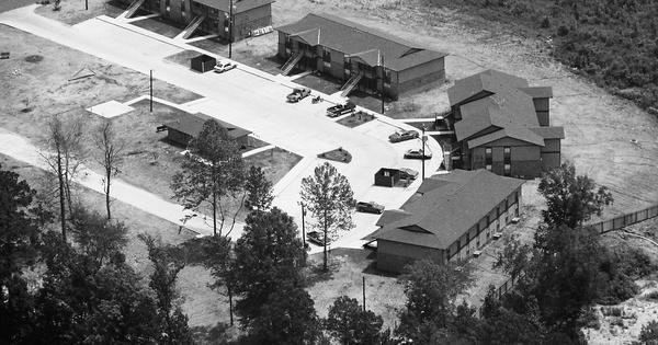 Vintage Aerial photo from 1986 in Sabine Parish, LA