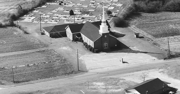 Vintage Aerial photo from 1983 in Coffee County, AL