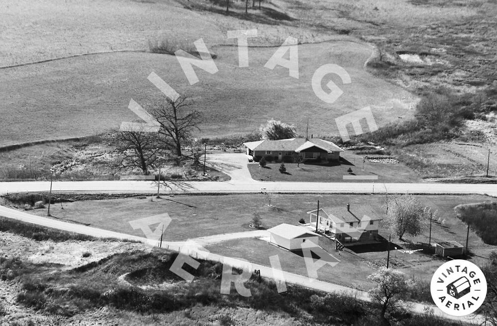 Vintage Aerial | Wisconsin | Kenosha County | 1974 | 52-KKE-8