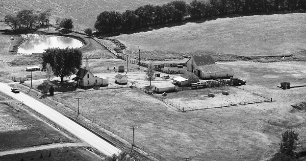 Vintage Aerial photo from 1976 in Clinton County, MO