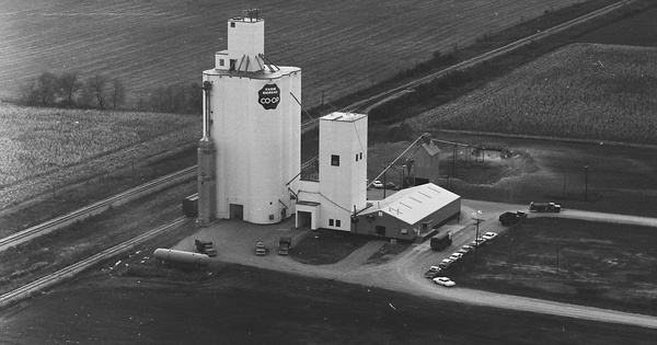 Vintage Aerial photo from 1966 in Tippecanoe County, IN