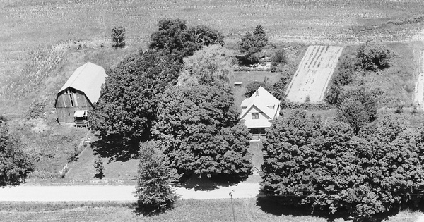 Vintage Aerial photo from 1983 in Allegan County, MI