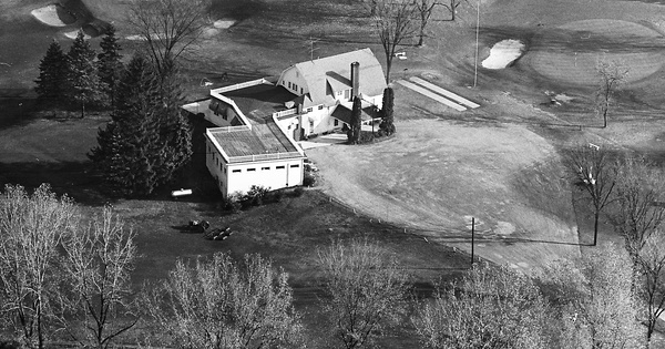 Vintage Aerial photo from 1963 in Branch County, MI