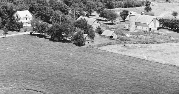 Vintage Aerial photo from 1977 in Butler County, KS