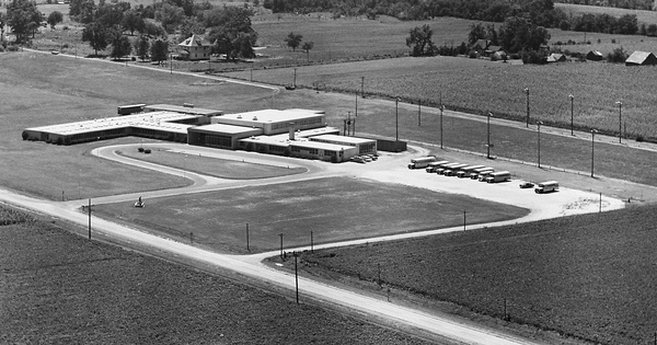 Vintage Aerial photo from 1967 in Macoupin County, IL