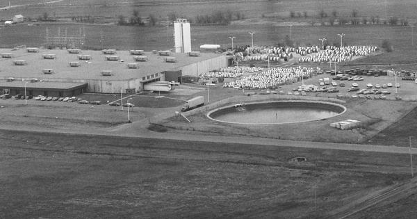 Vintage Aerial photo from 1982 in Barton County, KS