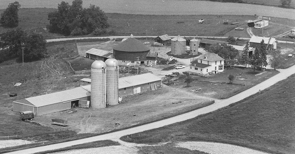 Vintage Aerial photo from 1979 in Buffalo County, WI