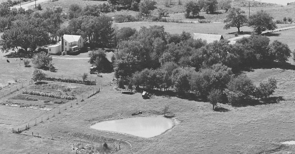 Vintage Aerial photo from 1979 in Osage County, KS