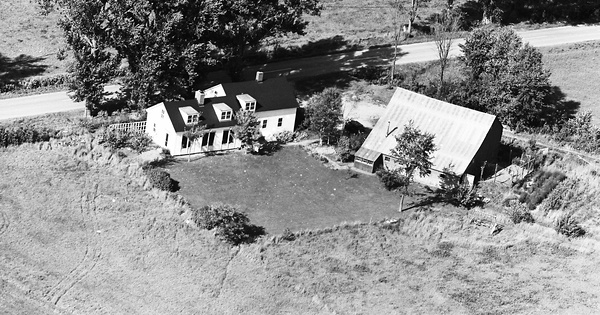Vintage Aerial photo from 1967 in Chittenden County, VT