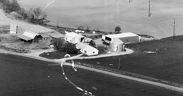 Vintage Aerial photo from 1982 in Knox County, IN