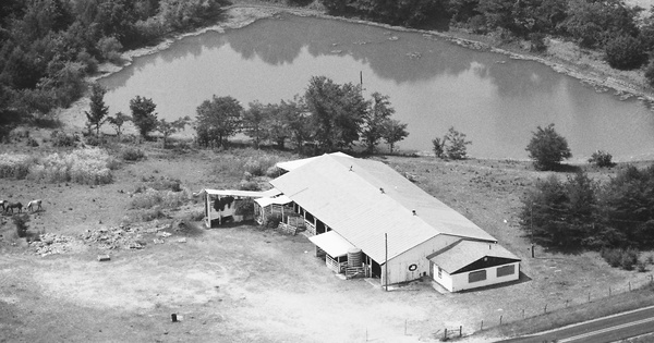 Vintage Aerial photo from 1988 in Lewis County, MO