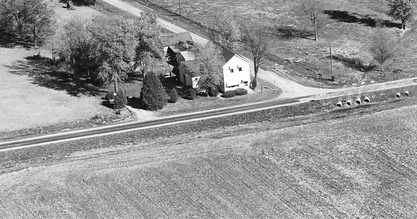 Vintage Aerial photo from 1980 in Washington County, IL