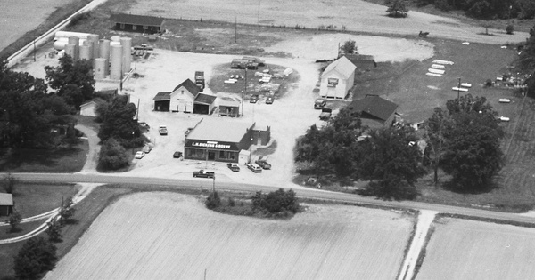 Vintage Aerial photo from 1987 in Franklin County, NC