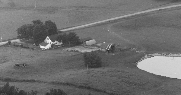 Vintage Aerial photo from 1986 in Bledsoe County, TN