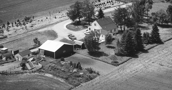 Vintage Aerial photo from 1988 in Wright County, MN