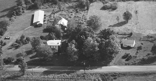 Vintage Aerial photo from 1982 in Tompkins County, NY