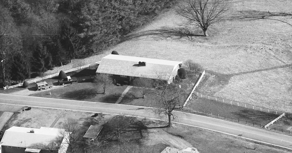 Vintage Aerial photo from 1992 in Haywood County, NC