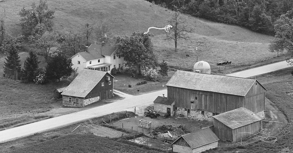 Vintage Aerial photo from 1977 in Fond du Lac County, WI
