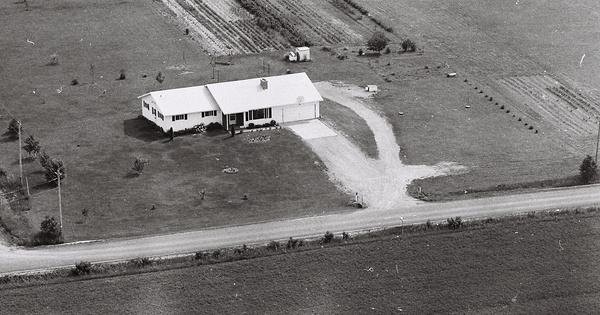 Vintage Aerial photo from 1978 in Marathon County, WI