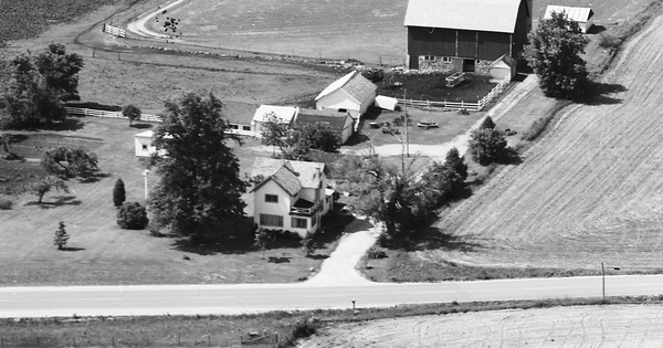 Vintage Aerial photo from 1977 in Jefferson County, WI