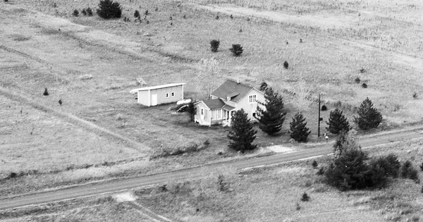Vintage Aerial photo from 1973 in Juneau County, WI