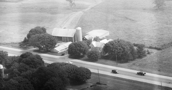 Vintage Aerial photo from 1982 in Carroll County, MD