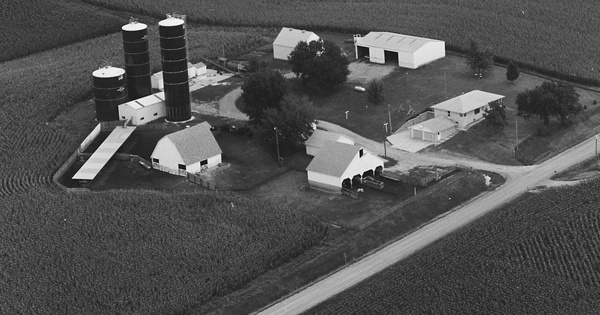 Vintage Aerial photo from 1979 in Jasper County, IA