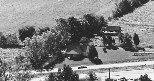 Vintage Aerial photo from 1983 in Hendricks County, IN