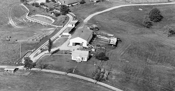 Vintage Aerial photo from 1980 in Scott County, KY