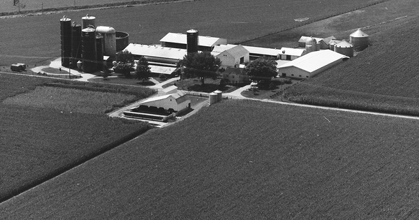 Vintage Aerial photo from 1985 in Fairfield County, OH