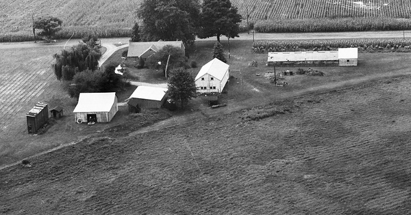Vintage Aerial photo from 1972 in Knox County, OH