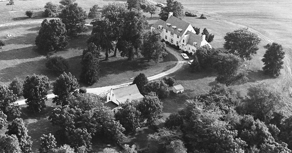 Vintage Aerial photo from 1963 in Cecil County, MD